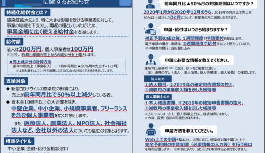 【解説動画あり】持続化給付金(中小企業等上限200万円、個人事業者上限100万円)電子申請受付開始しました